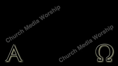 Alpha and Omega Black with glow Christian Worship Background. High quality worship images for use to spread the Gospel and enhance the worship experience.