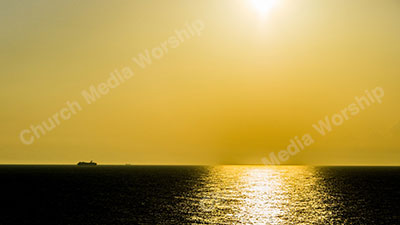 Sun over Water Christian Worship Background. High quality worship images for use to spread the Gospel and enhance the worship experience.