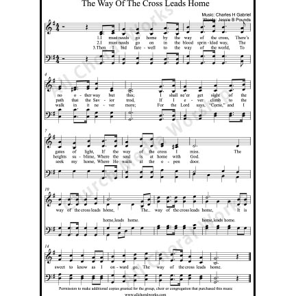 The way of the cross leads home Sheet Music (SATB) with Practice Music tracks. Make unlimited copies of sheet music and the practice music.