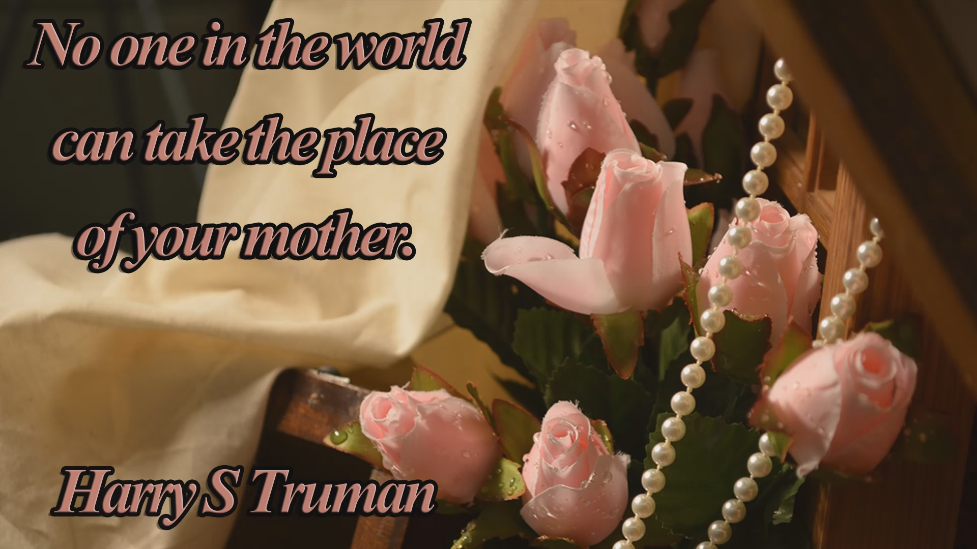 Truman Quote 1 Christian Animated Still A professional animated intro that's stops on a still image without continuous movements distraction