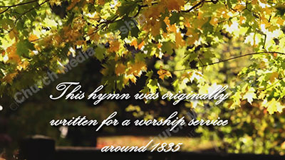 Nearer My God To Thee Historical Christian Worship Video A professional video that goes well with Sermons, Music, and worship.