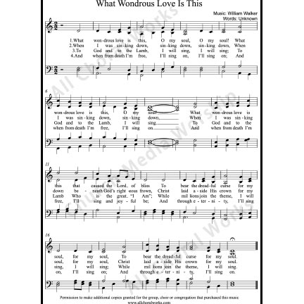 What Wondrous Love is This Sheet Music (SATB) with Practice Music tracks. Make unlimited copies of sheet music and the practice music.