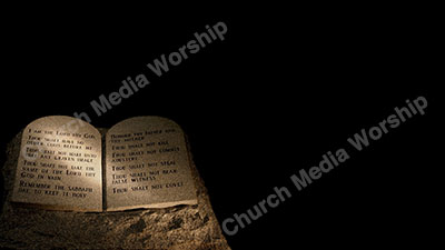 Ten Commandments V7 Christian Worship Background. High quality worship images for use to spread the Gospel and enhance the worship experience.